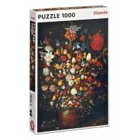 Brueghel - Květiny v dřevěné váze