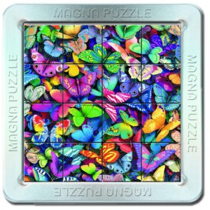 16 d. 3D Magnetické puzzle - Motýli