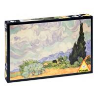 V. van Gogh - Pšeničné pole s cypřiši