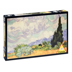 1000 d. Van Gogh Pšeničné pole s cypřiši